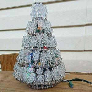 Other - Vtg. Safety Pen Handmade Christmas Tree w/Lights